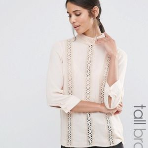 ASOS Vero moda lace high neck detail shell blouse